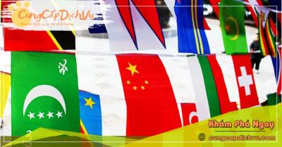 Xưởng may & in ấn cờ vải theo yêu cầu giá rẻ tại tỉnh Quảng Ninh
