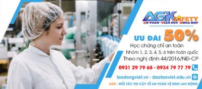 Huấn Luyện - Học - Cấp Chứng chỉ an toàn lao động tại Khu công nghiệp Lê Minh Xuân - Bình Chánh - Tp. HCM