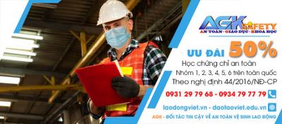Huấn Luyện - Học - Cấp Chứng chỉ an toàn lao động tại Khu công nghiệp Cát Lái 2 - Quận 2 - Tp. HCM