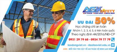 Huấn Luyện - Học - Cấp Chứng chỉ an toàn lao động tại Khu công nghiệp Phong Phú - Bình Chánh - Tp. HCM